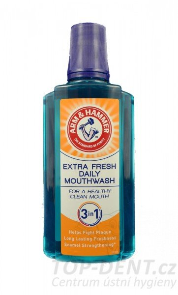 Arm & Hammer Extra Fresh 3v1 ústní voda, 400ml