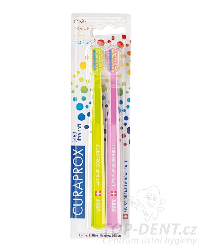 Curaprox Ultra Soft 5460 Rainbow edition, 2ks